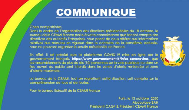 Communiqué : CEAMI France